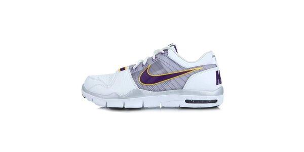Pánske biele tenisky s fialovými prvkami Nike