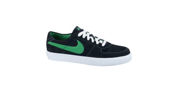 Pánske kožené tenisky v čiernej farbe Nike