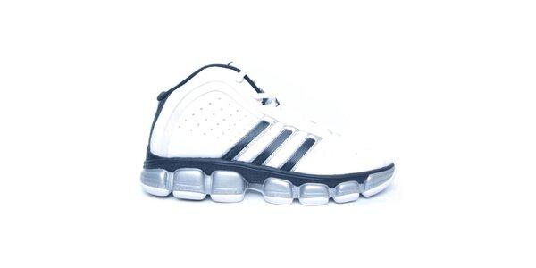 Pánske čierno-bielo-strieborné topánky Adidas