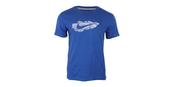 Pánske modré tričko s potlačou Nike