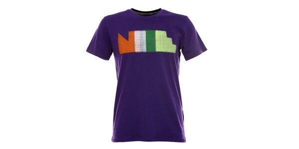 Pánske fialové tričko s krátkym rukávom Nike