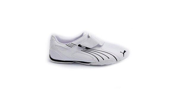 Pánske biele tenisky Puma s čiernymi detailmi