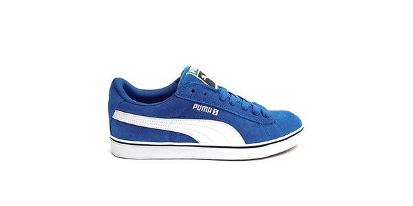 Pánske modré skejtové topánky Puma