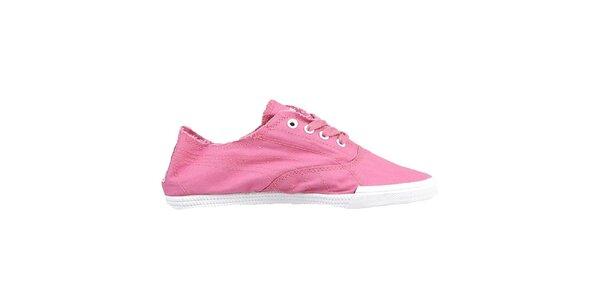 Dámske plátené ružové topánky Puma