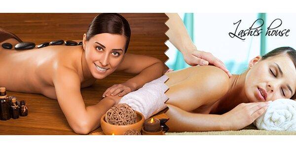 Hodinová klasická alebo hot stone masáž