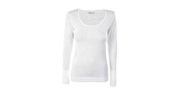 Dámske biele tričko s dlhým rukávom Kaffe