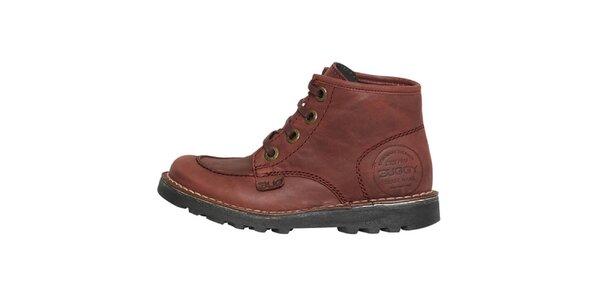 Dámske bordó členkové topánky Buggy