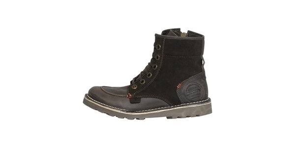Dámske pevné hnedé členkové topánky Buggy