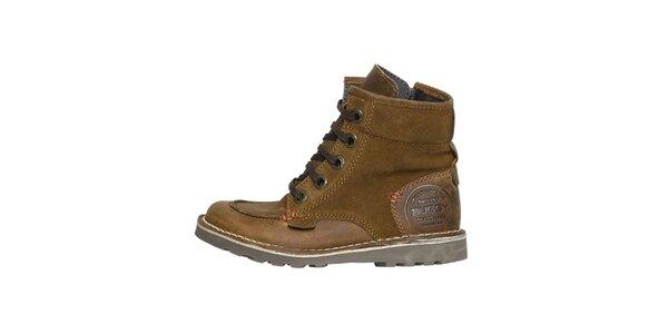 Dámske pevné horčicové členkové topánky Buggy
