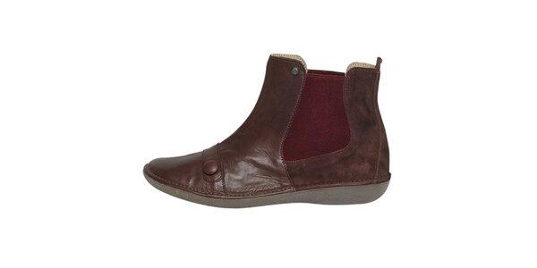 Dámske hnedé členkové topánky Buggy