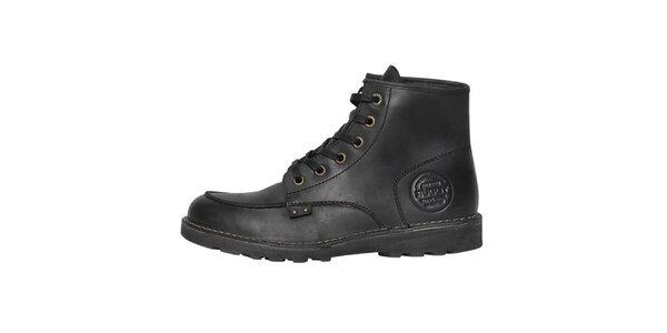 Pánske čierne kožené topánky Buggy