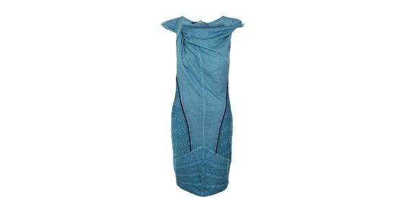 Dámske dlhé tyrkysové šaty Angels Never Die