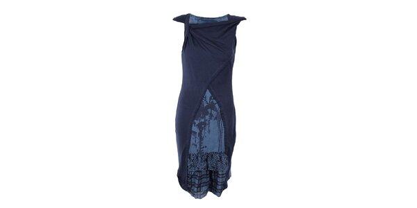 Dámske dlhé modré šaty Angels Never Die