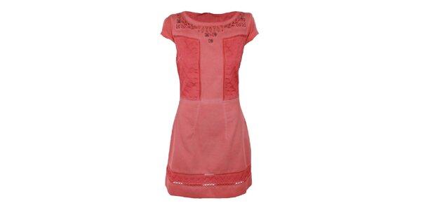 Dámske korálové šaty s prestrihmi Angels Never Die