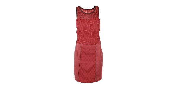 Dámske korálové šaty s čipkovaným vrškom Angels Never Die