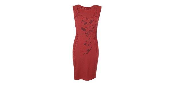 Dámske červené upnuté šaty Angels Never Die