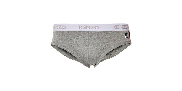 Pánske šedé slipy Kenzo s ozdobnou výšivkou