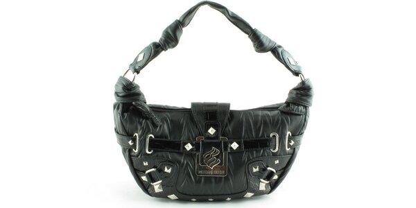 Dámska čierna kabelka Rocawear s kovovými detailami