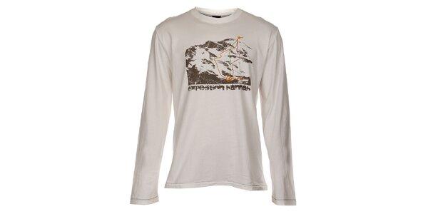 Pánske svetlo béžové tričko Hannah s potlačou