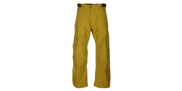 Pánske zeleno-žlté lyžiarske nohavice Hannah