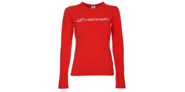 Dámske červené tričko Hannah s potlačou