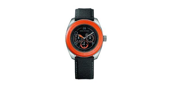 Pánske hodinky s oranžovými detailmi Hugo Boss Orange