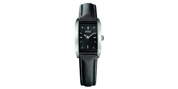Dámske čierne analógové hodinky Hugo Boss