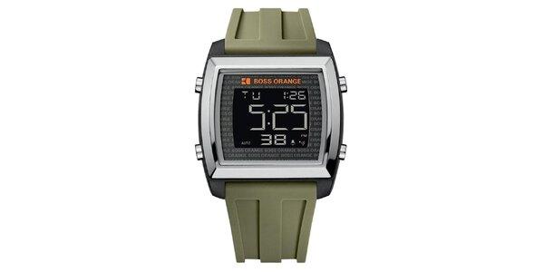 Pánske hodinky s olivovo zeleným remienkom Hugo Boss Orange