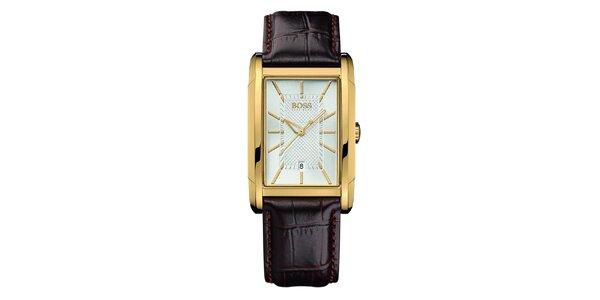Dámske analógové hodinky s hranatým púzdrom Hugo Boss