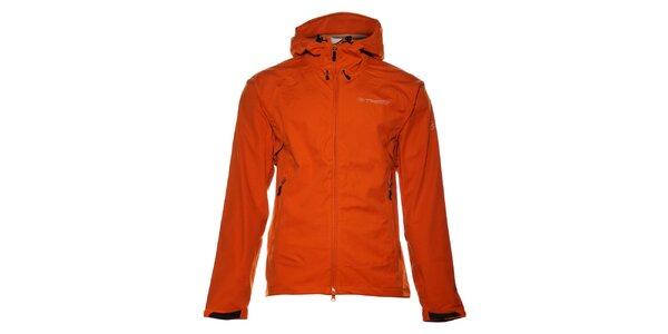 Pánska oranžová softshellová bunda Trimm