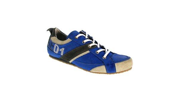 Pánske modré kožené tenisky Red Hot