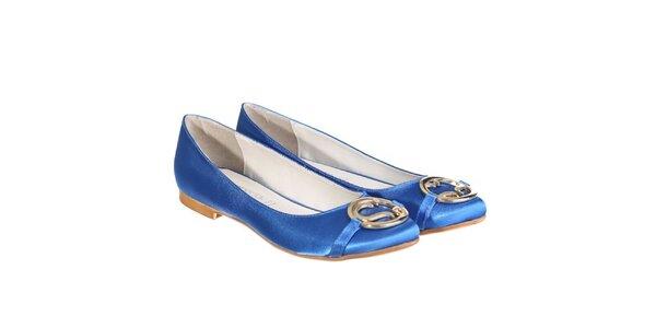 Dámske modré balerínky Miss Roberta