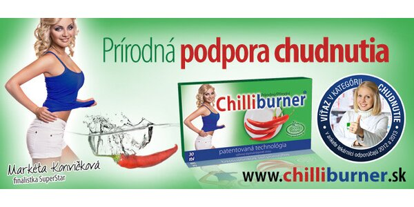 Chilliburner tablety pre štíhlu líniu