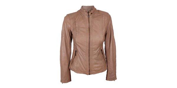 Dámska svetlo hnedá bunda s prešívaním Company&Co