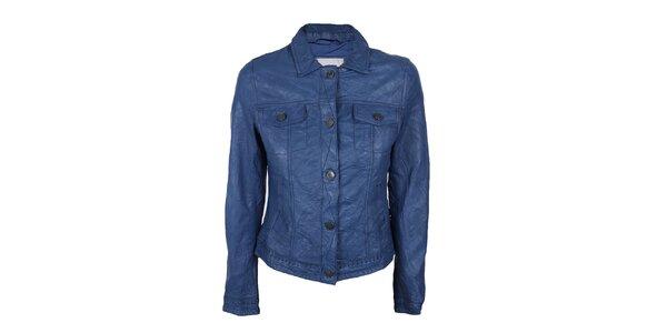 Dámska modrá bundička z kože Company&Co