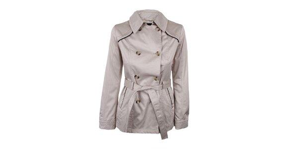 Dámsky šedý dvojradý kabátik Company&Co