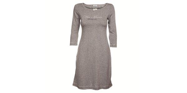 Dámske šedé melírované šaty Vive Maria