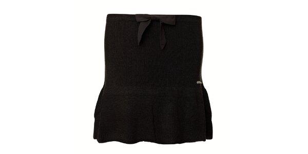 Dámska čierna strečová mini sukňa Vive Maria