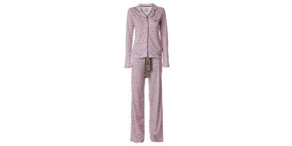 Dámske ružové pyžamo vive Maria s leopardím vzorom