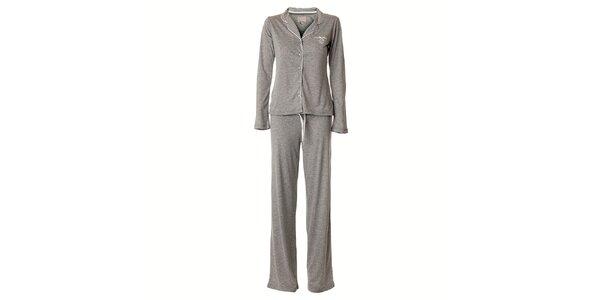 Dámske svetlo šedé melírované pyžamo Vive Maria