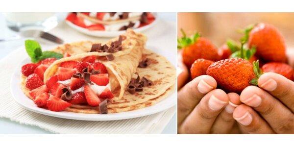 1 Eur za palacinky s ovocím, šľahačkou a čokoládou so zľavou 60%!