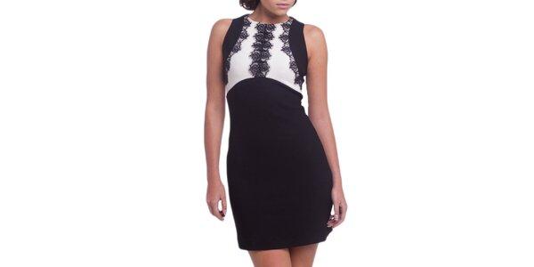 Dámske čierno-biele šaty bez rukávov Arefeva