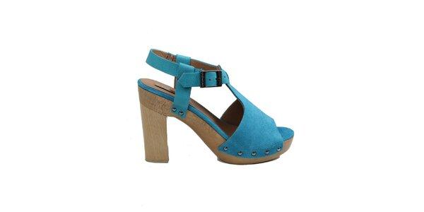 Dámske modré črievičky s platformou Cubanas Shoes