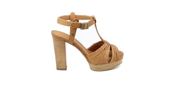 Dámske hnedé sandálky Cubanas Shoes