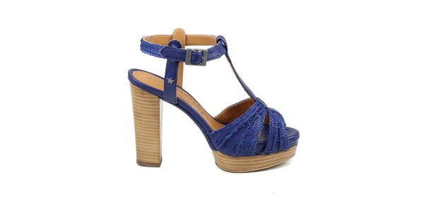 Dámske modrofialové sandálky Cubanas Shoes