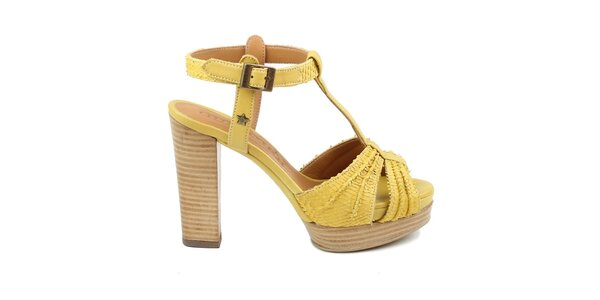 Dámske žlté sandálky Cubanas Shoes