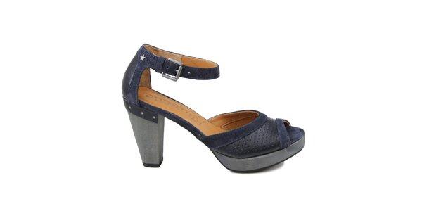 Dámske tmavo modré sandálky Cubanas Shoes