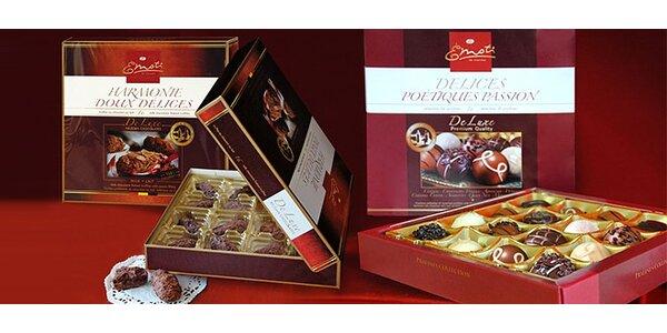 Valentínske balenie 3 belgických bonboniér EMOTI
