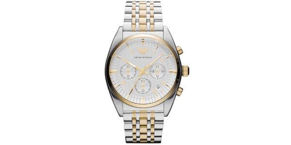 Pánske oceľové hodinky s chronografom Emporio Armani