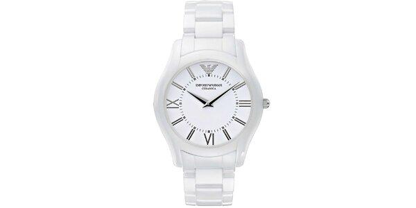 Dámske biele keramické hodinky Emporio Armani